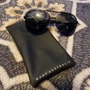 Quay Australia black aviator sunglasses